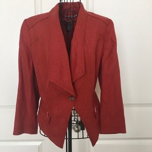 White House Black Market Linen Blend Jacket Blazer
